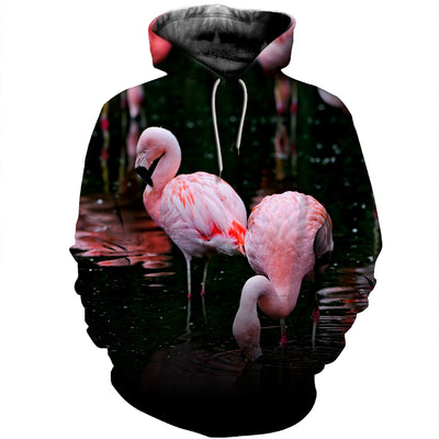 3D All Over Printed Flamingo T Shirt Hoodie 2012013