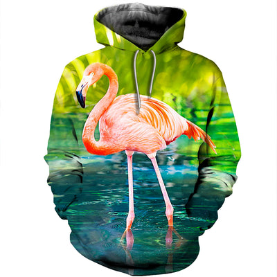3D All Over Printed Flamingo T Shirt Hoodie 2012014