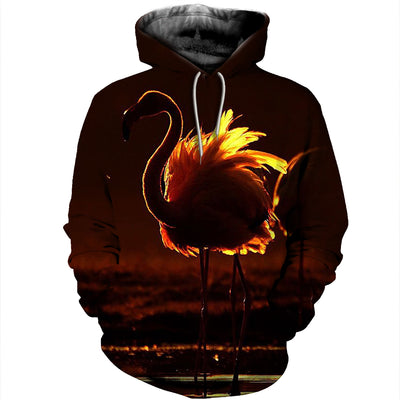 3D All Over Printed Flamingo T Shirt Hoodie 2012017