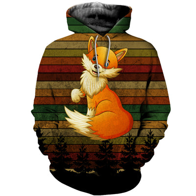 3D All Over Printed Fox Vintage T Shirt Hoodie 2522019