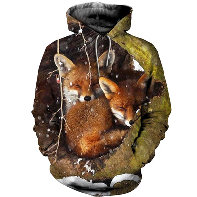 3D All Over Printed Fox Clothes 1271