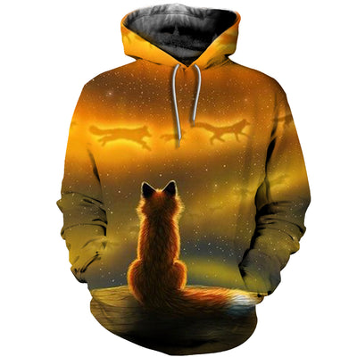 3D All Over Printed Fox Clothes 1273