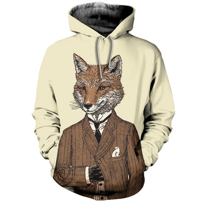 3D All Over Printed Fox Clothes 1278