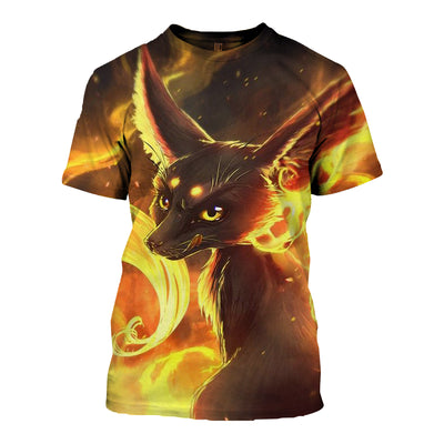3D All Over Printed Fox T Shirt Hoodie 141203
