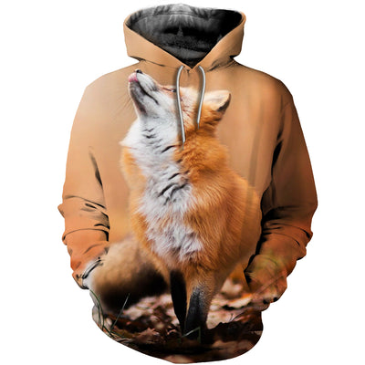 3D All Over Printed Fox T Shirt Hoodie 141204