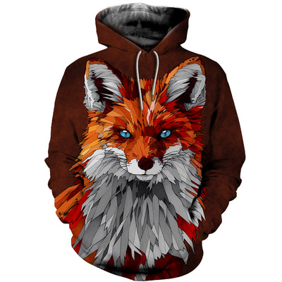 3D All Over Printed Fox T Shirt Hoodie 141208