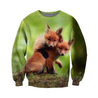 3D All Over Printed Fox T Shirt Hoodie 141209