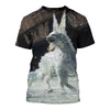 3D All Over Printed Fox T Shirt Hoodie 1412011