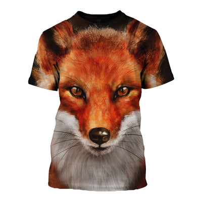 3D All Over Printed Fox T Shirt Hoodie 1412012