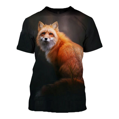 3D All Over Printed Fox T Shirt Hoodie 1412013