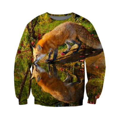 3D All Over Printed Fox T Shirt Hoodie 1412014