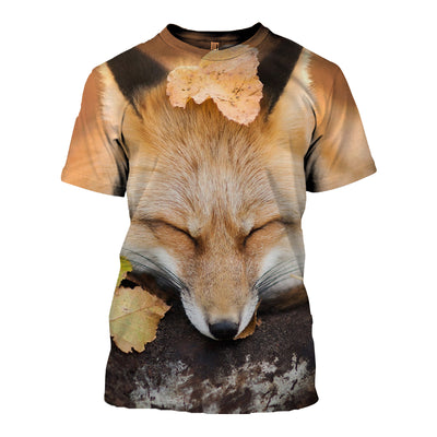 3D All Over Printed Fox T Shirt Hoodie 1412015