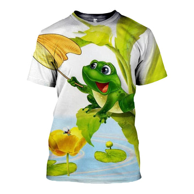 3D All Over Printed Frog T Shirt Hoodie 71201912