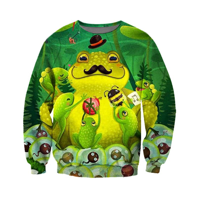 3D All Over Printed Frog T Shirt Hoodie 7120196