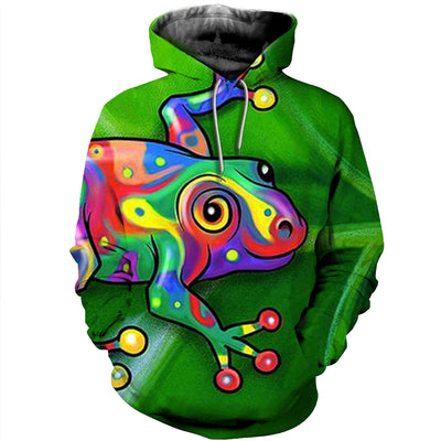3D All Over Printed Frog T Shirt Hoodie 7120197