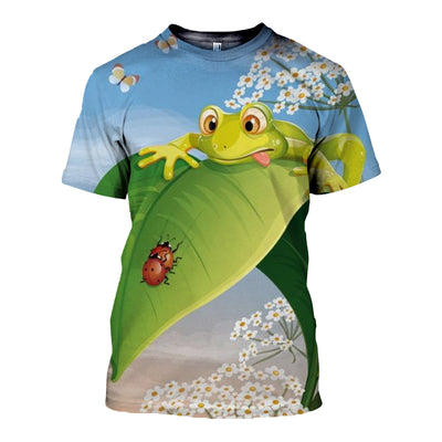 3D All Over Printed Frog T Shirt Hoodie 7120199