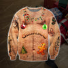 FUNNY SANTA 3D PRINT UGLY CHRISTMAS SWEATER