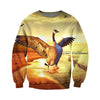 3D All Over Printed Geese T Shirt Hoodie 9120192