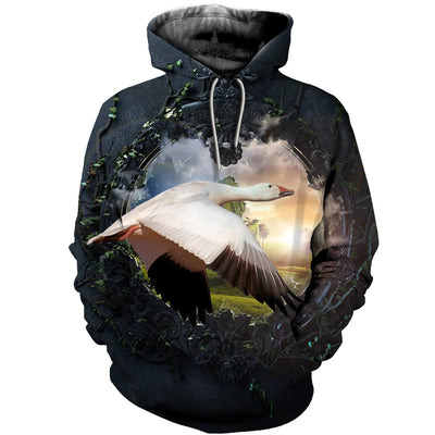 3D All Over Printed Geese T Shirt Hoodie 9120193
