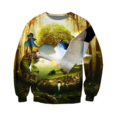 3D All Over Printed Geese T Shirt Hoodie 9120194