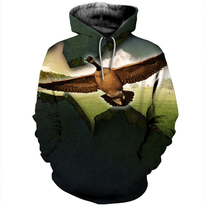 3D All Over Printed Geese T Shirt Hoodie 9120198