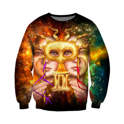 3D All Over Printed Gemini Zodiac T Shirt Hoodie 221201