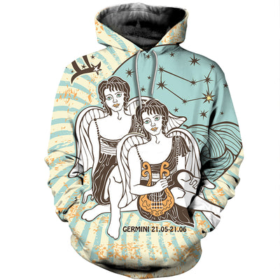 3D All Over Printed Gemini Zodiac T Shirt Hoodie 221206