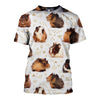 3D All Over Printed Guinea Pig T Shirt Hoodie 1712011