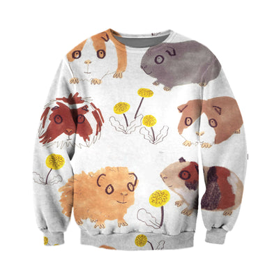 3D All Over Printed Guinea Pig T Shirt Hoodie 1712012