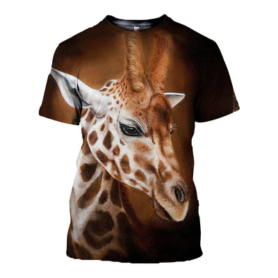 3D All Over Printed Giraffe T Shirt Hoodie 2612