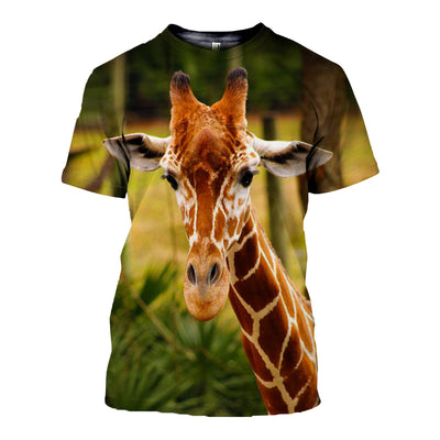 3D All Over Printed Giraffe T Shirt Hoodie 261212