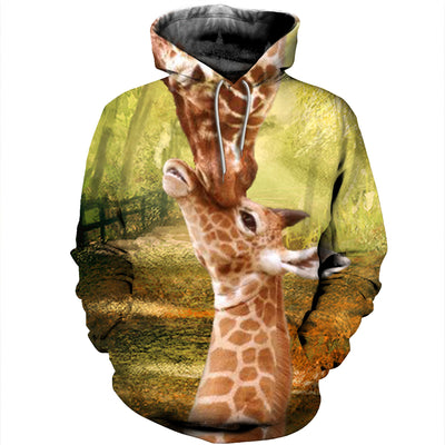 3D All Over Printed Giraffe T Shirt Hoodie 26122