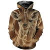 3D All Over Printed Giraffe T Shirt Hoodie 26124