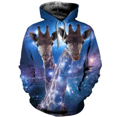 3D All Over Printed Giraffe T Shirt Hoodie 26126