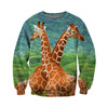 3D All Over Printed Giraffe T Shirt Hoodie 26128