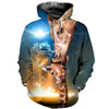 3D All Over Printed Giraffe T Shirt Hoodie 26129