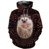 3D All Over Printed Hedgehog Clothes 12107
