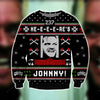 HERE'S JOHNNY KNITTING PATTERN 3D PRINT UGLY CHRISTMAS SWEATER