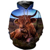 3D All Over Printed Highland Cattle T Shirt Hoodie 191204