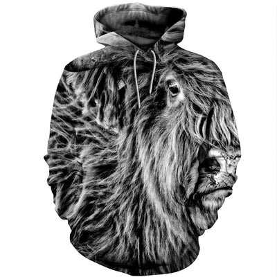3D All Over Printed Highland Cattle T Shirt Hoodie 191205