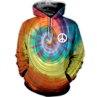 HIPPIE PEACE LOVE 3D FULL OVER PRINTED CLOTHES 19220203
