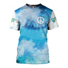 HAPPY HIPPIE CHICKS BLUE SKY 3D FULL OVER PRINTED CLOTHES 19220204