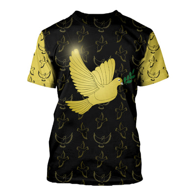 HIPPIE PEACE & LOVE DOVE 3D FULL OVER PRINTED CLOTHES