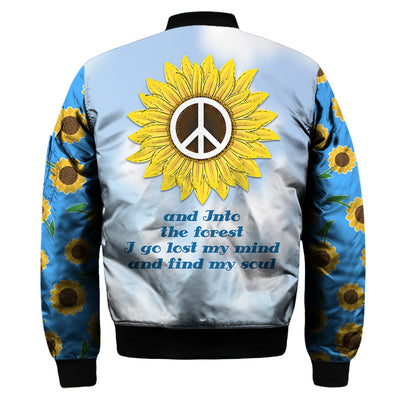 HIPPIE SUNFLOWER & BLUE LANDSCAPE 3D FULL OVER PRINTED CLOTHES