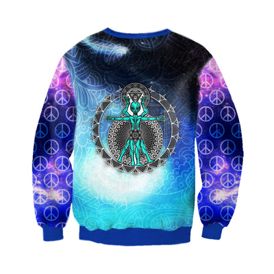 HIPPIE MANDALA & ALIEN PATTERN 1 3D FULL OVER PRINTED CLOTHES