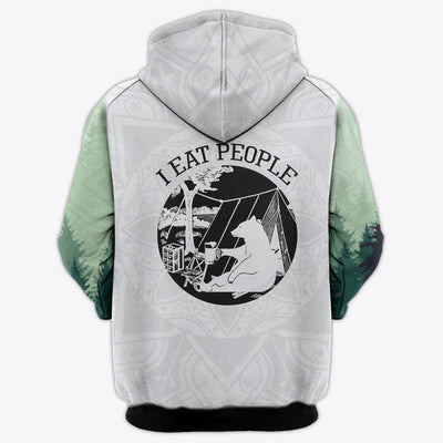 HIPPIE I EAT PEOPLE 2 3D FULL OVER PRINTED CLOTHES