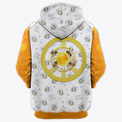 HIPPIE PEACE YELLOW BEE 2 3D FULL OVER PRINTED CLOTHES
