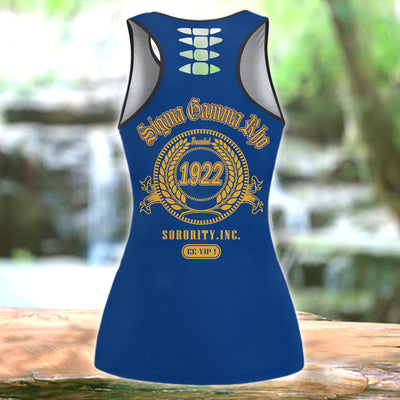 COMBO SIGMA GAMMA RHO HOLLOW TANKTOP AND LEGGING SET OUTFIT