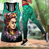 COMBO Frida Kahlo HOLLOW TANKTOP AND LEGGING SET OUTFIT 171120202