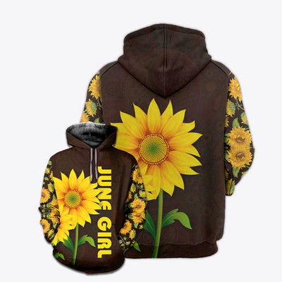 JUNE GIRL SUNFLOWER 3D FULL OVER PRINTED CLOTHES